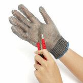 Cortadas segurança facada prova luvas de malha de metal em aço inoxidável resistente açougueiro