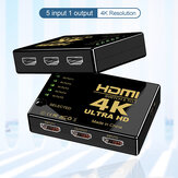 Bakeey HDMI Audio Video Splitter Adapter 5 In 1 Out 4 K * 2 K HD Audio Video Tombol Sinkronisasi Switcher Untuk Nootebook DVD Player TV