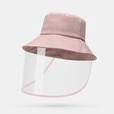 قبعة مكافحة الضباب للجنسين حماية القبعات دلو نظارات العين