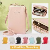Women Faux Leather Clutches Bag Shoulder Bag Phone Bag Card Holder