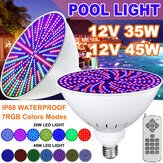12V 45W/35W E27 PAR56 RGB LED Bulb Swimming Pool Light for Pentair Hayward with Remote Control