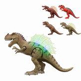 Walking Dinosaurier Spinosaurus leuchten Kinder Spielzeug Abbildung klingt Real Bewegung LED mit Projektion