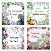 24 páginas frente e verso papel de pintura para colorir pintados à mão livro inglês crianças adulto descompressão desenho livro para colorir