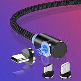 Câble de données de charge rapide Micro USB coude magnétique TOPK 2.1A pour téléphone Android HUAWEI Honor