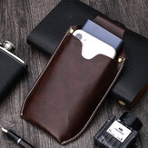 Men Genuine Leather Reteo Phone Bag Waist Bag Belt Bag