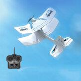 MODELLO ZT Space Walker 325mm Apertura alare 2.4G 2CH EPO Biplano RC Aereo RTF