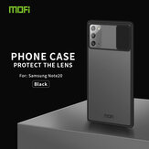 MOFI Anti-Hacker Peeping Slide Lens Cover Shockproof Anti-scratch Translucent Matte Silicone Protective Case for Samsung Galaxy Note 20