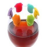 KCASA KC-GC12 6 Sztuk Silikon Delfin Język Wine Charm Wine Glasses Cocktail Drink Maker Bar Narzędzia
