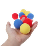 10PCS Blue Close Up Magic Street Trick Soft Sponge Ball 45mm Magic Props Clown Nose