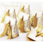 50 stuks creatief bruiloft snoep geschenkdoos bruiloft partij chocolade snoep geschenk doosjes