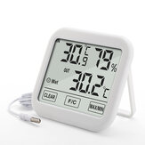 KIMTOKA TH036 Digital Home Thermometer Hygrometer with Probe Electronic Indoor Temperature & Humidity Sensor