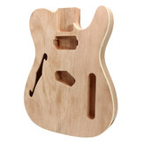 DIY Guitarra Elétrica Mahogany Wood Body Telecaster Thinline Estilo Parte do corpo Single F Hole