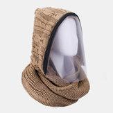 Unisex Desmontable Mantener caliente Cremallera a prueba de polvo Cuello Protección de punto Cara Mascara Bufanda