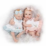 NPK 10 Inch 26cm Twins Reborn Baby Soft Silicone Doll Handmade Lifelike Baby Girl Dolls Play House Toys Birthday Gift
