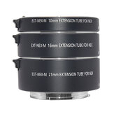 Mcoplus EXT-NEX 10mm 16mm 21mm E-Mount Metal Auto Focus Macro Extension Tube Ring for Sony A7 A7II A7III A7SII A6000 A6300 A6500 NEX 5 Mirrorless Camera Adapter Ring
