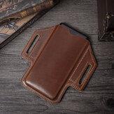 Homens Couro Genuíno Telefone de 6.3 polegadas retro Bolsa Cintura Cinto Bolsa