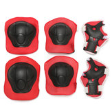 6Pcs Children Kids Elbow Knee Pad Wrist Guard Protector For Skateboard Skating Skiing