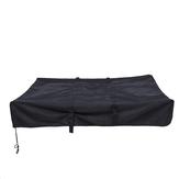 Tettuccio impermeabile da tetto Tenda da viaggio nero per rimorchio camper campeggio 143x120x28cm