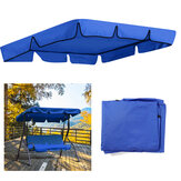 2/3 Seater Size Blue UV-Proof Outdoor Garden Patio Swing Sunshade Cover Waterproof Canopy Seat Top Cover
