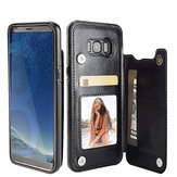 Magnetic PU Leather Wallet Card Slot Bracket Caso para Samsung Galaxy S8