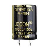 5Pcs 1000UF 100V 22x30mm Capacitor eletrolítico de alumínio radial de alta frequência 105 ° C
