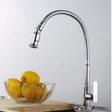 Kitchen Sink Single Lever Faucet Flexible Chrome Brass Pull Out Spring Tap