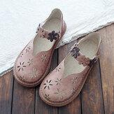 Kadın Tatlı Rahat Calico Band Çengel Döngü Nefes Loafer Ayakkabı Oymak