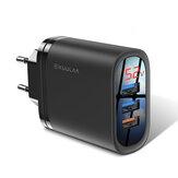 KUULAA 18 W 3 USB QC3.0 Display digital de carregamento rápido Adaptador de carregador USB para iPhone XS XR 11 Pro Oneplus 7T Pro Huawei P30 Pro Xiaomi Mi9 9Pro 5G