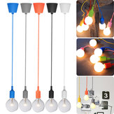 60W Modern Ceiling Fabric Cable Pendant Light Holder E27 Bulb Lamp Fitting