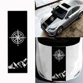 130x40cmKompassMusterMotorhaubeAufkleber Vinyl Aufkleber Universal für Jeep für Wrangler Rubicon JK C