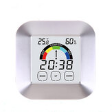 Ecrã táctil doméstica Digital Relógio Temperature Humidity Display Alarme Outdoor Indoor Tester