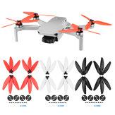 4 pezzi Puntelli per elica a tre pale Riduzione del rumore pieghevole per DJI Mavic Mini / Mavic Mini 2 RC Drone