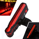 XANES TL12 3528LED / LD 6 Modları USB Şarj IPX5 Su Geçirmez Örümcek Lazerler Bisiklet Kuyruk Işık