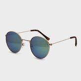 Женские круглые формы с полностью металлическим каркасом, индивидуальные повседневные модные солнцезащитные очки На открытом воздухе UV