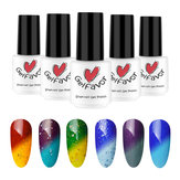 Gelfavor Alteração de temperatura UV Gel Polish LED Shiny Soak Off Lacquer Varnish Unhas Art 7ml Manicure