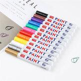 Conjunto de 12 cores Caneta de tinta impermeável Colorful Marcador de tinta permanente metálico Graffiti Óleo Marcador de pintura e suprimentos de papelaria