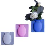 創造的な魔法のゴム製の壁の花瓶のシリコーンの粘着性がある花の容器のびん