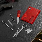 Kit de ferramentas EDC em formato de cartão VOLKEN 13-IN-1 faca incorporada chave de fenda caixa de ferramentas tesoura para acampamento de caça de sobrevivência ao ar livre