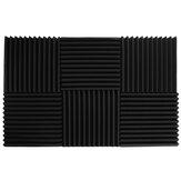 6 piezas de aislamiento de sonido triangular algodón KTV silenciador esponja aislamiento de sonido almohadilla de espuma absorción de sonido de pared