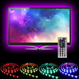 SOLMORE 2*40CM+2*60CM USB LED TV Backlight Strip Light Kit RGB Monitor Lamp + 44keys Remote Control DC5V