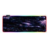 RGB-muismat Soft Rubber antislip USB-aangedreven gamingtoetsenbord Pad Beschermende mat voor thuiskantoor