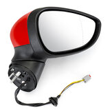 Electric Wing Door Mirror Painted Red Right Driver For Ford Fiesta Mk7 2008-2012