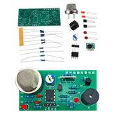 MQ5ガス検知および警報回路基板DIY部品は音と光の警報センサーキットをサポート