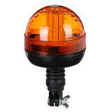 LED rotativo âmbar piscando âmbar barco caminhão trator aviso luz DC12-24V IP65