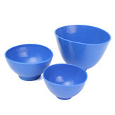 3pcs Dental Nonstick Impression Alginate Flexible Rubber Mixing Medical Bowls Dental Tools