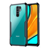Bakeey For Xiaomi Redmi 9 Case Armor Bumper with Lens Protector Anti-fall Transparent Acrylic + Soft TPU Edge Protective Case