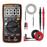 ANENG AN113Dインテリジェント自動測定True- RMSデジタルマルチメーター6000カウント抵抗ダイオード導通テスター温度AC / DC電圧電流計AN8002からアップグレード-オレンジ