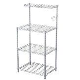 Salvaspazio regolabile a 4 livelli Organizzatore Scaffale in metallo Scaffale per forno a microonde Cucina Soggiorno Bagno Camera da letto