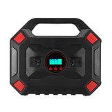 150PSI 120W multifuncional LCD Bomba de inflador de compressor de ar de carro de 25 cilindros com display digital inflador de pneu com lanterna manômetro