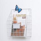 Moderne Wire Magazine Zeitung Storage Körbe an der Wand hängende Rack Post Organizer